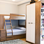 A Modern Kids' Room with Custom Bunk Beds