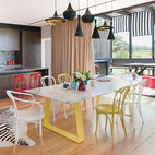 Mixing and Matching Bright Dining Chairs