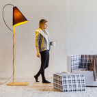 Lamp We Love: Solid Beech with Conical Shade by Formabilio