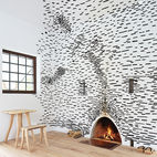 Photo of the Week: Dramatic Wall Covered in Strips of Wood