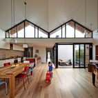 A Unique Roofline Draws Light Into This Melbourne Home