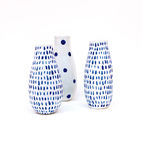 Ceramic vases by Reiko Yamamoto made in Pittsburgh.
