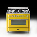 36-inch Majestic range in zinc yellow