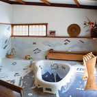 A Serene Nakashima Bathroom Survives