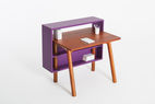 Bazaar desk with built-in shelves by Lanzavecchia + Wai for Journey East