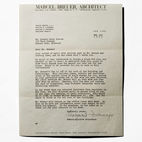 Straight from the Desk of Marcel Breuer