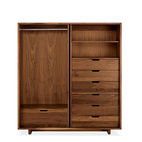 modern made in america products USA midwest room & board armoire moro