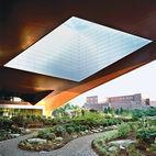 A Peaceful Plaza Basks Beneath This Giant, Futuristic Oculus