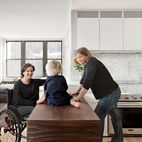 A Hands-On Renovation Makes a Cramped City Kitchen Wheelchair-Accessible