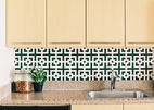 modern kitchen and bath rental fixes and improvements include squares squared wallpaper by chasing paper