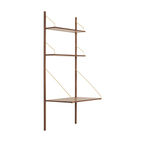 Royal System Shelving Unit A with desk shelf by Poul Cadovius for dk3 made of oak