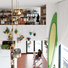 Lofted live/work area in a San Diego micro-living unit