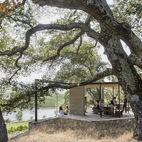 modern pavilion at a winery