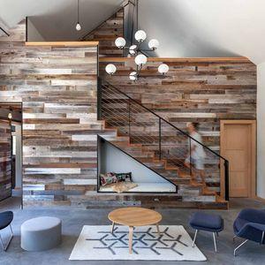 Loft-like living room in rural California