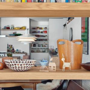 Decorative dining area wooden bookshelf