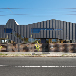 Brickwork fence in Melbourne, Australia