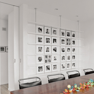 Modern dining room with Mies van der Rohe chairs