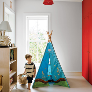Modern kids bedroom with play teepee