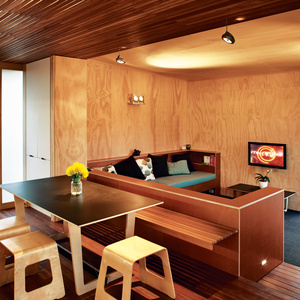 compact prefab new zealand interior dining room