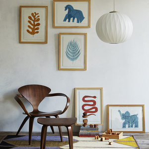 Collection of exclusive framed prints for the Dwell Store in a variety of colors