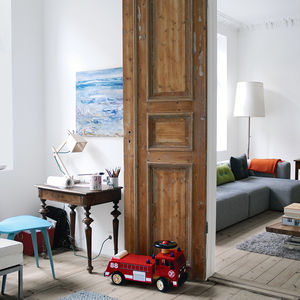 Oslo parlor with wood double doors connecting two rooms