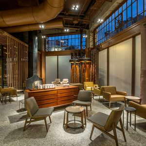 Starbucks Roastery in Seattle with sitting area