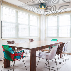 Tribeca penthouse with dining table and Tropicalia Moroso chairs