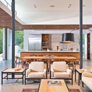 Living and Dining Areas in Indian Summer home in Southern California