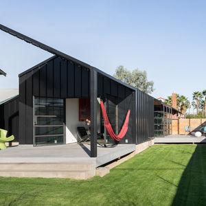 Backyard of an Industrial Bungalow in Phoenix