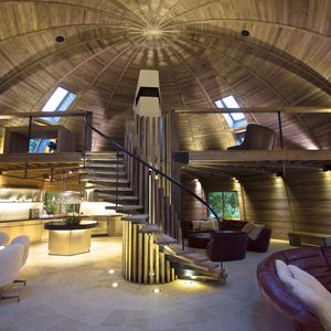 Dome Home separation of interior spaces, China