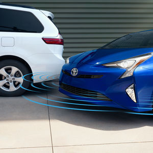 The available Intelligent Clearance Sonar (ICS) system in the 2016 Toyota Prius.