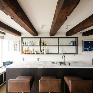 Bar in an Amsterdam loft.