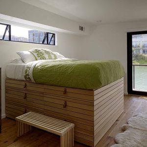 San Francisco floating home bedroom