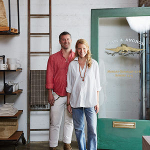 Portland store Beam & Anchor's founders Robert and Jocelyn Rahm.