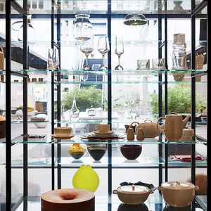 High-design ware at a Luminaire showroom.