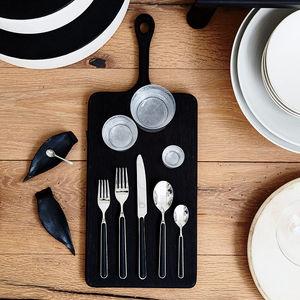 Fantasia black flatware set