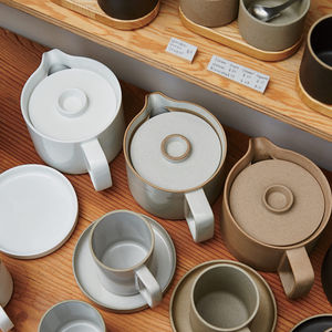 Hasami porcelain pieces designed by Taku Shinomoto