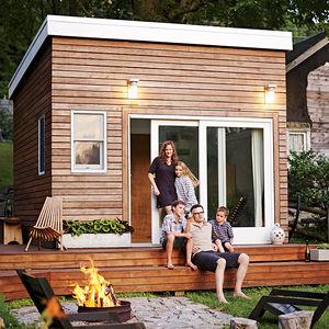 Backyard addition of a Massachusetts home