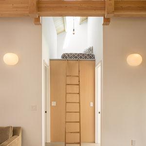Loft in a compact barn renovation