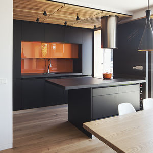 Zafra residence open-plan kitchen and dining area.