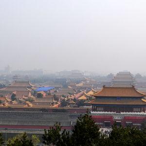 Jingshan Park overlooking Forbidden City, Beijing, China