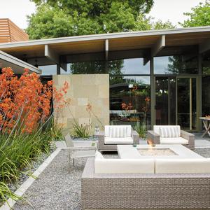 modern outdoor living room garden sofa