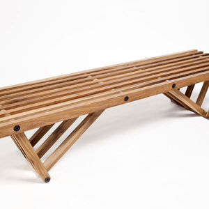 Banquette V, made from tropical peteribi wood, from Argentine company Net