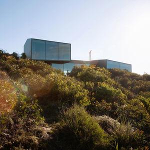 modern fairhaven beach house blackbutt eucalyptus facade trees