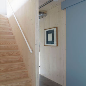 Timber stairway in a Passive House in London