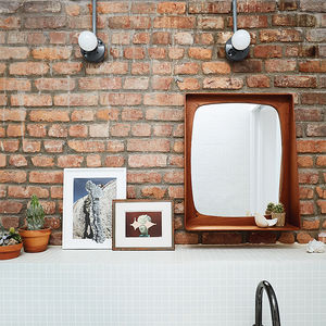 Modern Brooklyn renovation has ikea vanity and white tiles by mineral tiles in bathroom