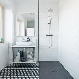 Reckendorfer Residence Austria renovation shower Hansgrohe fixtures