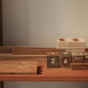 Sarmiento's recycled wood desk set