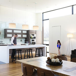 Kitchen and dining area in Rappahannock County house