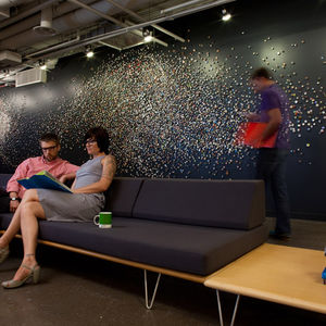 Installation at an advertising agency